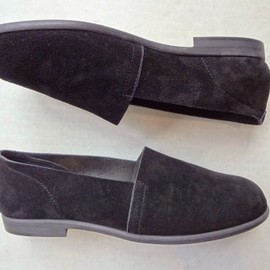 SUNSEA - Suede slip on