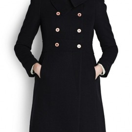 MANGO - マンゴー(MANGO)コート DOUBLE BREASTED WOOL COAT Black 1
