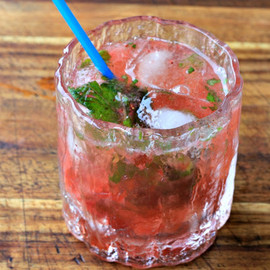 Strawberry Mint Muddle with Rum