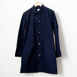 Manual Alphabet - 【Men's&Ladies'】Manual Alphabet / Typewriter shirt coat : navy