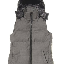jun hashimoto - 3-WAY WOOL DOWN VEST