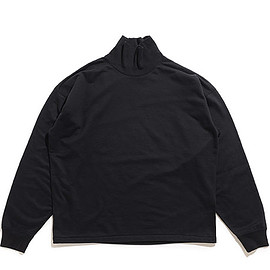 AURALEE - Super High Gauge Sweat Turtle Neck P/O-Black