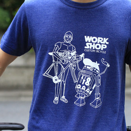 BLUE LUG - work shop t-shirt (heather navy)