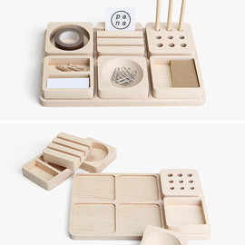 Pana Objects - 'Tofu' – Solid maple desk organiser