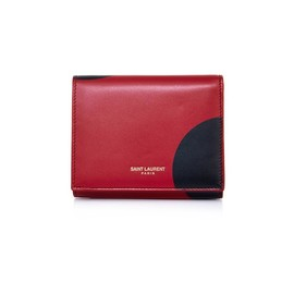 SAINT LAURENT - Big Spot leather cardholder