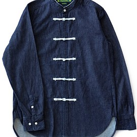 Sasquatchfabrix. - China Shirt (indigo navy)