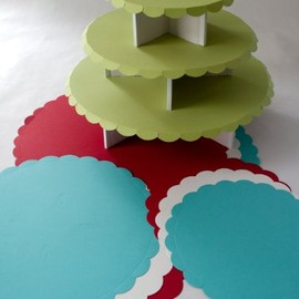 Party in a Box Petite Round Cupcake Stand Kit - 3-tier holds 36 Cupcakes - Made in USA
