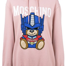 MOSCHINO - Transformer Bear Hoodie -sized 38 / international size S