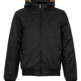 Topman - BLACK CROPPED PARKA COAT