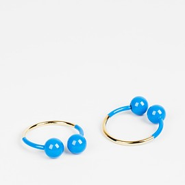 "J. W. Anderson X Style.com X colette - ""Double Ball"" Hoop Earrings"
