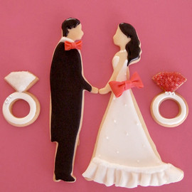 THUMB AND CAKES - for wedding cookie