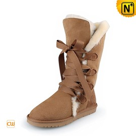CWMALLS - Ladies Brown Shearling Lined Boots CW314403