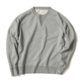 HEAD PORTER PLUS - OVER DYEING SWEAT CREW GREY