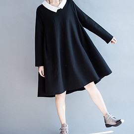 dress - Love respiratory/ Loose doll cotton Asymmetry dress