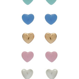 TOPSHOP/TOPMAN - Mini Heart Multi Pack Earrings