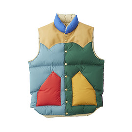 Rocky Mountain Featherbed - 【18AW NEW COLLECTION】DOWN VEST MULTI COLOR