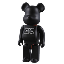 Porter x Bearbrick - Matt Black Bearbrick 400%