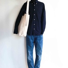 Ordinary fits - 5pocket Roll up Denim Used