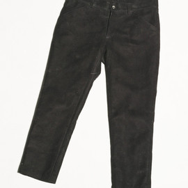 CYDERHOUSE - NEEDLE PUNCH LEATHER PANTS
