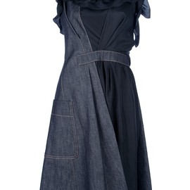 Nina Ricci - two-tone denim dress