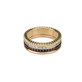 Quatre diamond paved ring large