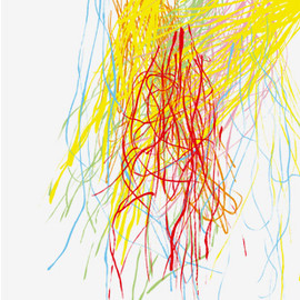 mike mills - Yellow Fireworks poster /HUMANS BY MIKE MILLS