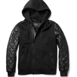 GIVENCHY - Givenchy Contrast-Front Quilted Leather Bomber Jacket