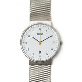 BRAUN - ANALOG STEEL MESH BAND WHITE 125