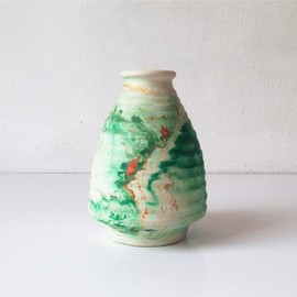 Nemadji Pottery - Ribbed Vase