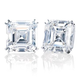 HARRY WINSTON - Emerald-cut Earstuds
