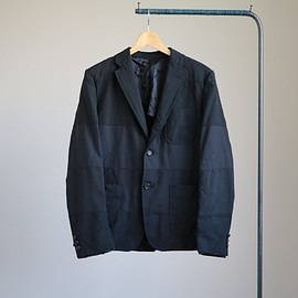 COMME des GARCONS HOMME - Estelcloth Mix Notched Lapel Jkt #black mix