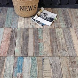 Recycled Teak Floor Tiles - Price per Sq Metre (4 tiles)