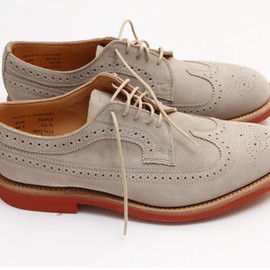 Mark McNairy  - SUEDE LONG wing brogue