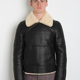 ALEXANDER MCQUEEN - LEATHER SHEARLING JACKET