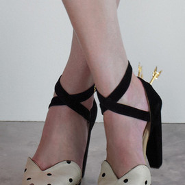 sretsis - POLKA DOT LOVE STUCK PEEPTOE