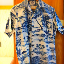 Hilo Hattie - Pocket Aloha Shirt/Hawaiian Blue
