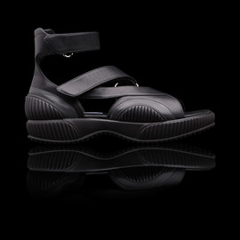 PRADA - SS2014 PLUME CALF LEATHER SANDAL BLACK