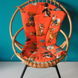 1960's - Vintage Cane Children's Chair