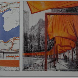 Christo,Jeanne-Claude - 「 The Gate 」サイン入りアートプリント