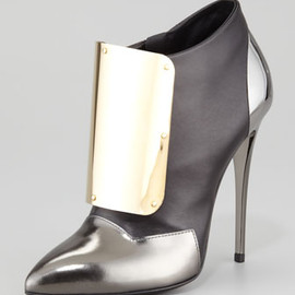 GIUSEPPE ZANOTTI - Metal-Detail Leather ANkle Bootie