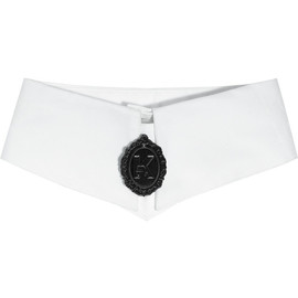 KARL - Printed cotton-poplin cameo collar