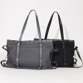 PATRICK STEPHAN - Leather×Cotton Bag 'atelier'M