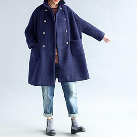oversized Coat, Wool jacket - double breasted Coat, winter Coat, oversized Coat, Wool jacket, womens jackets