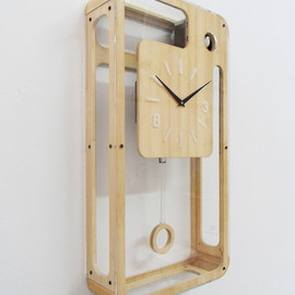 pedromealha - Bamboo Quartz Cuckoo Clock with pendulum and moving bird
