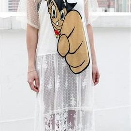 DRIVE STORE - Astro Boy Mesh Front Oversized Top Dress