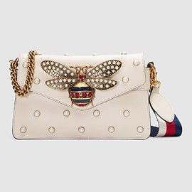 GUCCI - Broadway leather clutch