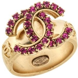 CHANEL - Crystal CC Ring
