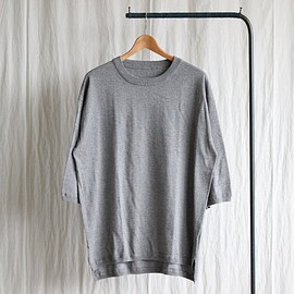 crepuscule - Knit T-Shirt 3/4 #gray