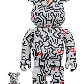 MEDICOM TOY - BE@RBRICK KEITH HARING #8 100% & 400%