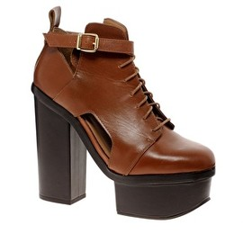 asos - ASOS PREMIUM ALL FIRED UP Leather Ankle Boots